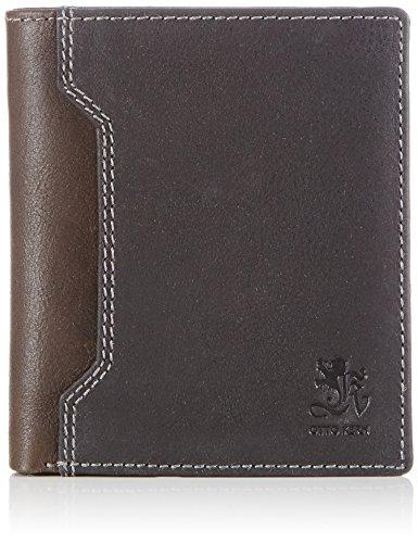 Otto Kern Natural Wallet OS-01 Unisex-Erwachsene Geldbörsen 20x12x2 cm (B x H x T), Schwarz (Black/Brown)