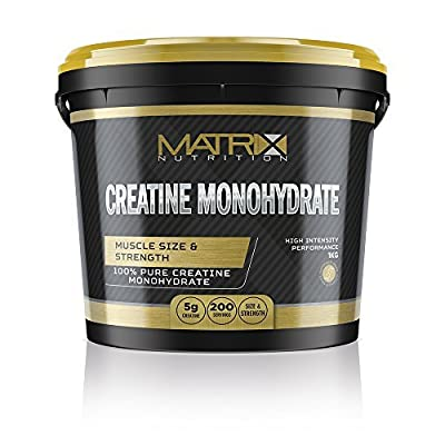 Matrix Nutrition Pure Micronised Creatine Powder 1kg - Best Creatin Monohydrate Pre Workout Supplement Weight Gain. by Matrix Nutrition