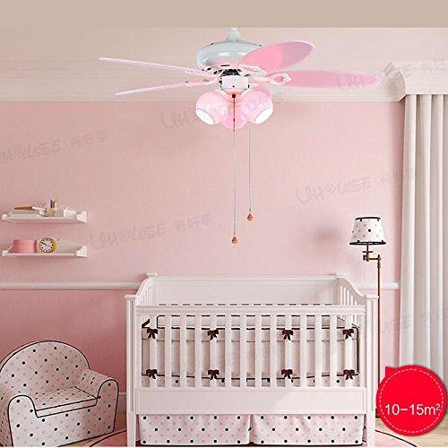 Fufu luci pendenti 42 pollici per bambini in camera ventilatore a soffitto luci principessa girl camera da letto con ventilatore lampadario (a fune, wall control, telecomando)