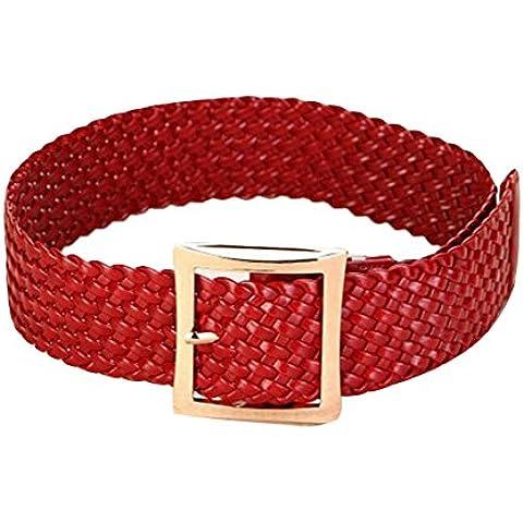 Sitong pin hebilla ocasional cinturones trenzados de las mujeres