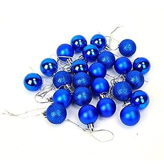 Pack de 2 (48pcs) Decoración del árbol de navidad gotas de bolas artificiales adornos colgantes adornos colgantes para interiores al aire libre del árbol de navidad fiesta decoración del hogar 6 color