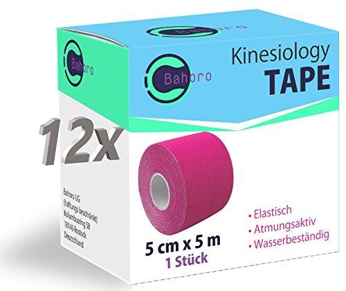 Bahoro Kinesiologie Tape - 12er Set - Pink