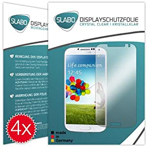 """4 x Slabo Film de protection d'écran Samsung Galaxy S4 protection écran film de protection film """"Ultra Clair"""" invisible MADE IN GERMANY"""