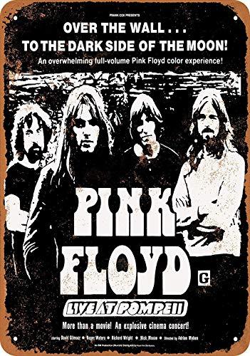 HiSign Pink Floyd Live bei Pompeii Movie Zinn Wandschild Retro Eisen Malerei Vintage Metall Plaque Dekoration Hängen Kunstwerk Poster Für Bar Cafe Shop Home Yard - Star Wand Hängen