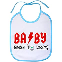 Babero Baby born to rock - Celeste