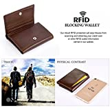 Vbiger Leder Geldbörse RFID Schutz Kreditkarten Leder Bifold Portemonnaie für Herren Leder Geldbeutel Männer Börse Portmonee - 5