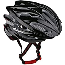 Toptotn HM-1 Bicycle Helmet Ultralight Integrally Molded EPS Bike Helmet Safety Helmet Specialized for Road/ Mountain Terrain Bicycle with Comfortable Removable Washable Antibacterial Pads Black by LEADTRY