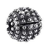 MATERIA 925 Silber Beads Stopper Clip Damen Mädchen Antiksilber für Armbänder mit Gewinde in Geschenk-Box #1236
