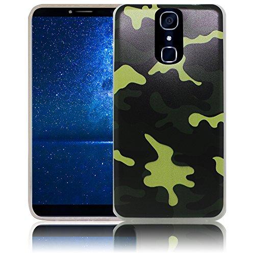 thematys Passend für Cubot X18 Camouflage Silikon Schutz-Hülle weiche Tasche Cover Case Bumper Etui Flip Smartphone Handy Backcover Schutzhülle Handyhülle Cubot X18