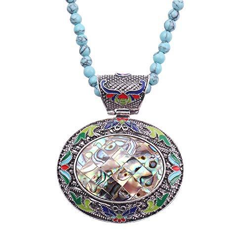 Tiefsee-Öl (Legierungs-Tropfen-Öl-eiförmige natürliche Tiefsee-Farben-hängende Art- und Weiseretro- Halskette)