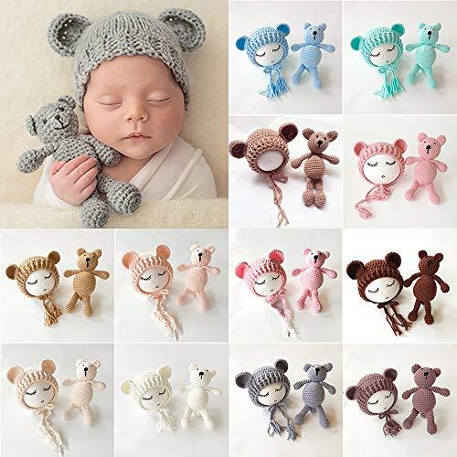 Niedlich Baby Kostüm - Niedliches Baby Mädchen Jungen Strickmütze Häkelmütze Mütze Kostüm Fotografie Requisiten