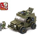 Ejército Jeep–2Minifiguras incluido.–Modelo Edificio Kits Compatible con LEGO City Militar ejército Jeep 3d bloques modelo educativo edificio juguetes