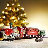 Weihnachtszug mit Licht und Sound 13tlg Zug Eisenbahn Komplett mit Schienen Christmas Train NEU