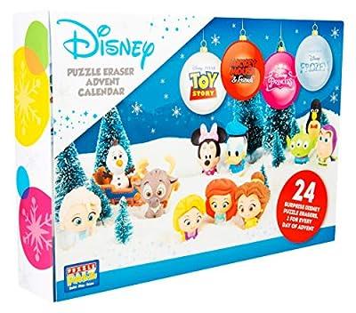 Sambro DIS-6975 - Calendario de Adviento con Puzzle y Goma de borrar, Figuras de Disney Frozen, Princesa, Toy Story y y Muchos más, para niños a Partir de 3 años, Multicolor de Sambro