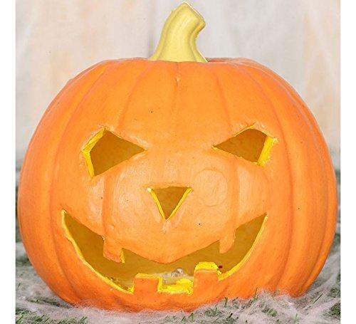 Guirca- lampada a forma di zucca halloween, colore arancio, 1