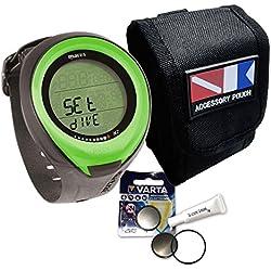 Mares Puck Pro Sparset - Sac de transport avec batterie et graisse en silicone, vert