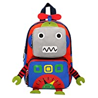 Kids Backpack - 3D Cartoon Robot Children Backpacks Kids Kindergarten Cute School Bags Travel Backpack Outdoor Casual Daypack