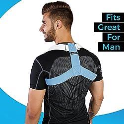Goodlex - Corrector de Postura para Espalda y Hombro, Ajustable y Acolchado, para Hombres y Mujeres, alinea tu Spine, Elimina el Dolor y la Caza, Alivia la molestia y Evita Lesiones