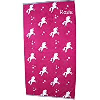 TeddyTs Personalised Pink Unicorn Beach Towel