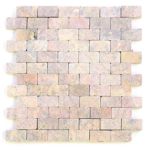 divero-marmor-11-matten-33-x-33cm-naturstein-mosaik-fliesen-fur-wand-boden-rot
