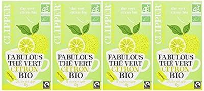 Clipper Thé Vert Citron Biologique 20 Infusettes - Lot de 2
