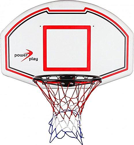 Power Play Basketballkorb mit Zielbrett - weiss