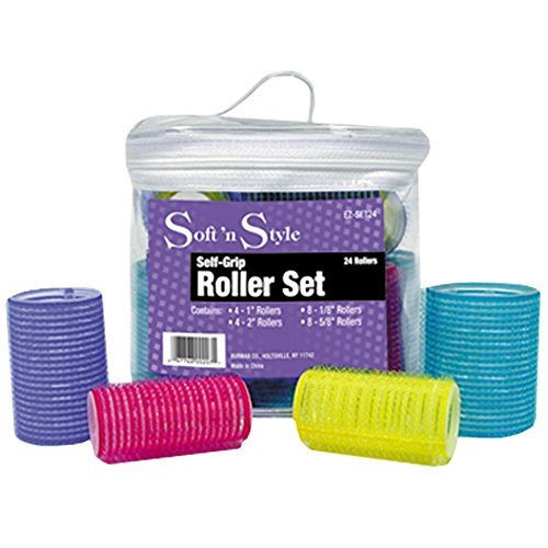 SOFT 'N STYLE 24 Pieces Self Grip Roller Set HC-EZSET24 by Soft 'N Style