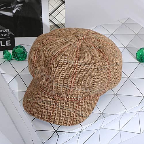 Modelle Populare Kostüm - Hut Baseball Cap Retro literarischen achteckigen Hut Herbst und Winter Paare Modelle lässig wilde Baskenmütze heraus einkaufen Schuhe Hut Khaki-Code