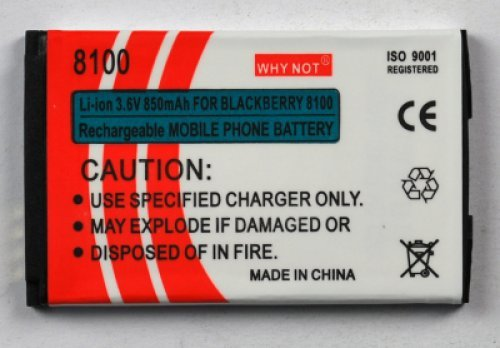 Batteria per BlackBerry 8100-8110-8130-8220 Pearl Flip Lion 600mAh Blackberry Pearl 8100 8130