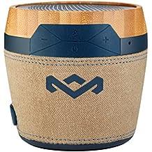 The House Of Marley Chant Mini - Altavoces portátiles (1.0 canales, Inalámbrico y alámbrico, Bluetooth/3.5 mm, A2DP, Mono portable speaker, Beige, Azul, Madera)