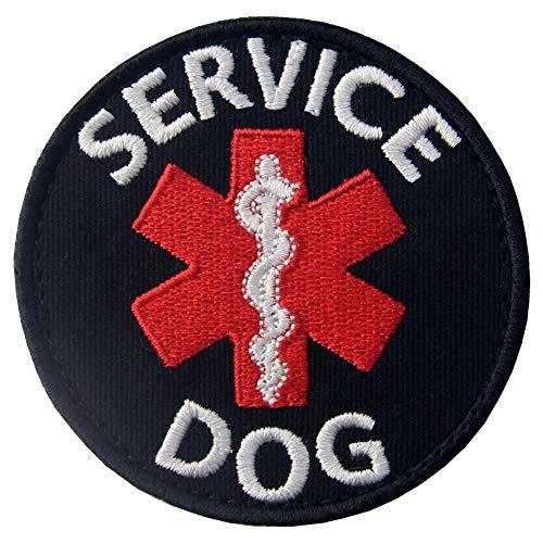 Service Dog Patch Morale Taktische Westen/Geschirre Emblem bestickte Applikation Verschluss Haken & Schlaufen Patches für kleine oder große Arbeitshunde Service Dog-1 (Hund-therapie-ausrüstung)
