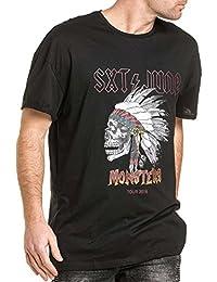 Sixth June - Tshirt homme monsters noir oversize