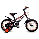 YYS Bicicletta for Bambini, 12/14/16/18 inch Shock Absorption Ragazzi e Ragazze Alunni Mountain Bike (Color : Orange, Size : 18