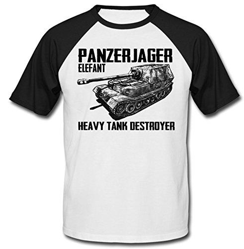 teesquare1st Panzerjager Elefant Camiseta DE Mangas Negra Cortas T-Shirt Size Xxxlarge