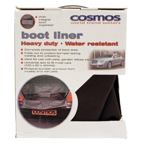 Cosmos 92612 - Alfombrilla impermeable para maletero de coche (tamaño mediano), color gris