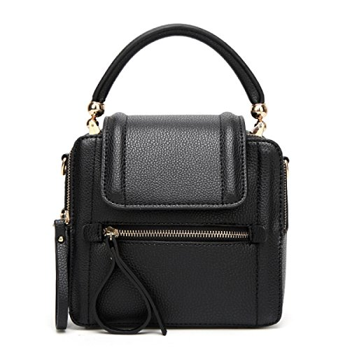 Europa Und Die Vereinigten Staaten Mode Retro Schulter Diagonal Wild Trend Handtasche,WineRed Black