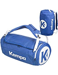 Kempa–Bolsa de deporte con función de mochila (Incluye pelota Red Negro/Azul 54x 28x 28cm, 40L, azul