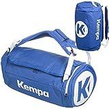 Kempa Sporttasche mit Rucksack-Funktion inklusive Ballnetz 54 x 28 x 28 cm, 40 L (blau)