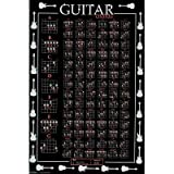 (24x 36) le Tableau Ultimate Accords De Guitare Poster musique