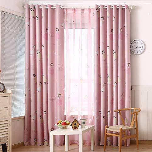 Xpy-curtain tende a drappeggio bambini del fumettofinito ragazza panno all'ombra semplice semplice camera da letto moderna al soffitto soggiorno in stile principessa, 200, a