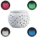 LEDMOMO Keramik LED Solar Tischleuchten Garten Lichter Wasserdichte bunte Solar Nacht Lichter Lampe für Party Hof Patio Outdoor Indoor Dekoration