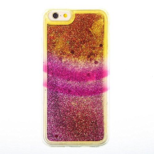 "iPhone 6S 4.7"" Case, iPhone 6S Gliter Case, Edaroo [Rainbow Liquid Glitter] [Colorful Quicksand] Cute Creative Flowing Liquid Floating Glitter Bling Rubber Case for Apple iPhone 6/6S (4.7 inch) - Hori Stripe #5"