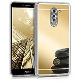 kwmobile Funda para Huawei Honor 6X / GR5 2017 / Mate 9 Lite - Carcasa Protectora [Trasera] de [TPU] para móvil en [Dorado con Efecto Espejo]