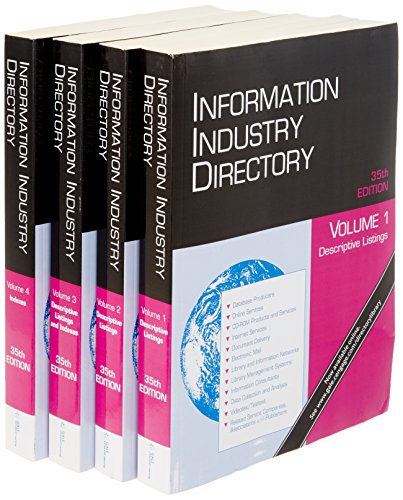 Information Industry Directory (Information Industry Directory (2 vol.))