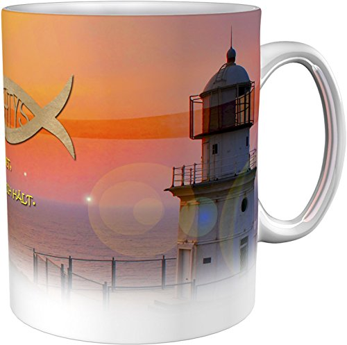 Kaffeetasse / Kaffeebecher / Leuchtturm / Kommunion