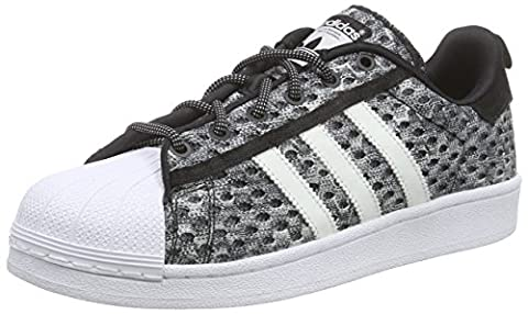 adidas Superstar Glow In the Dark, Baskets Basses Homme, Gris-Grau (Core Black/Ftwr White/Ftwr White), 47 1/3 EU