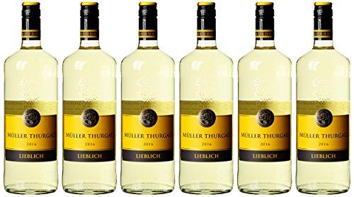 HXM Muller Thurgau Qualitätswein Rheinhessen 2015 Weißwein (6 x 1 l)