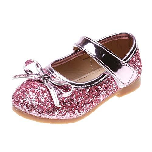 BfmyxgsKleines Mädchen Süße Prinzessin Schuhe Einzelne Schuhe Coole Spitze Pailletten Glitter Delicate Bow Dance Party Performance - Glitter Spitzen