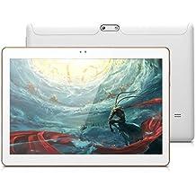 "Excelvan K107 - Tablet 3G Android 5.1 (Pantalla 10"", Dual Sim, Quad Core, 1G RAM, 16G ROM, Dual Cámara, WIFI, OTG, GPS), Blancore, 1G RAM, 16G ROM, Dual Cámara, WIFI, OTG, GPS), Blanco"
