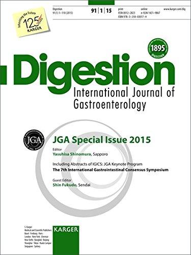 JGA special issue 2015 : Including Abstracts of the 7th International Gastrointestinal Consensus Symposium (IGICS), JGA Keynote Program, Fukushima, ... Topic Issue: Digestion 2015, Vol. 91, No. 1